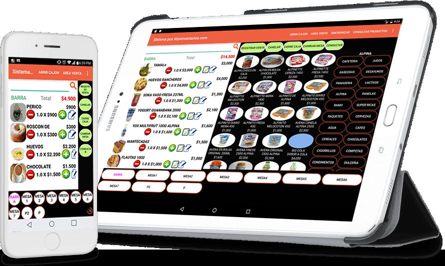 Registro de ventas desde la terminal android